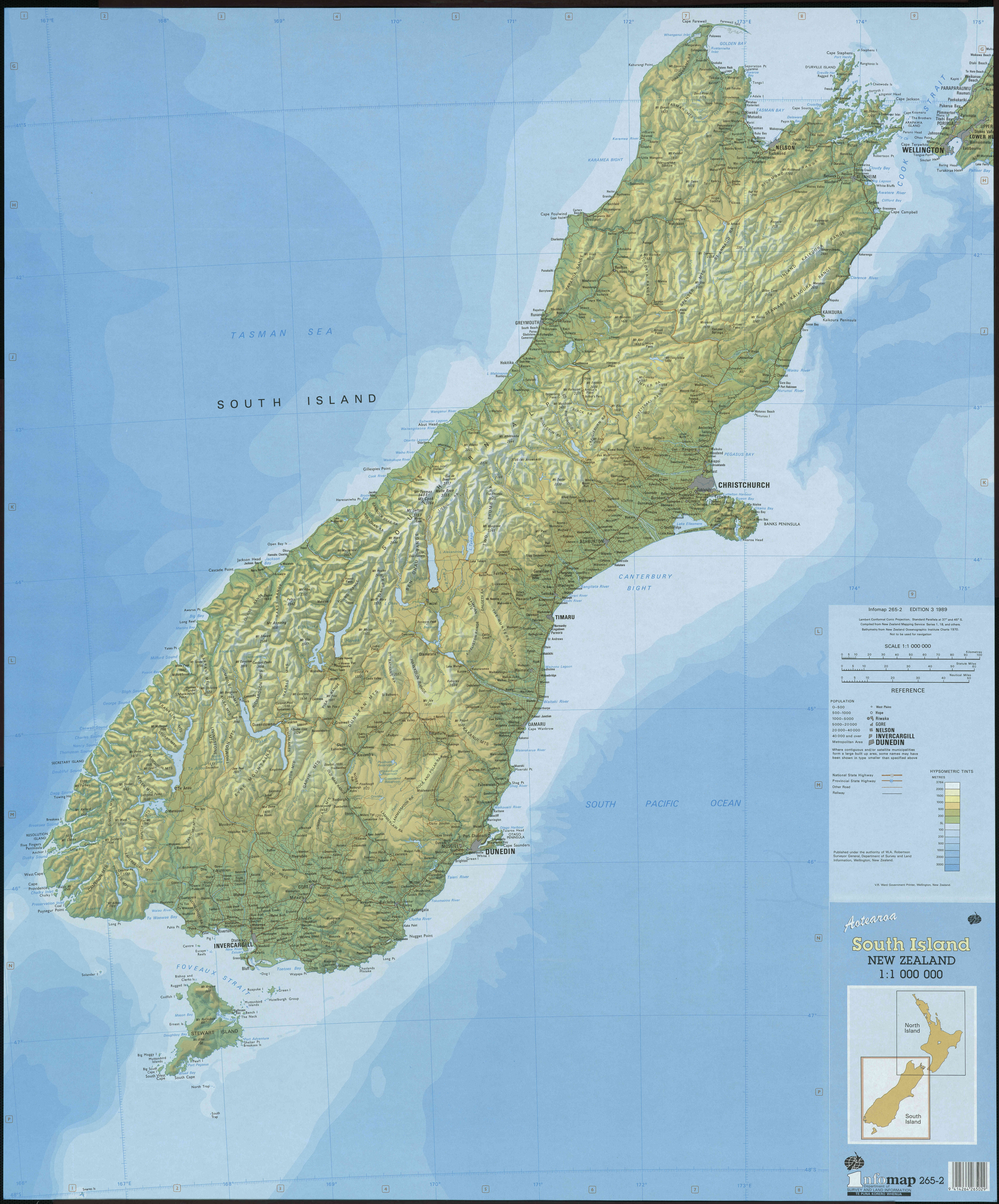 John and pegahs adventures in middle earth click for large south island map publicscrutiny Choice Image